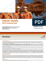 BHP Results for the Half-Year Ended 31 December 2014