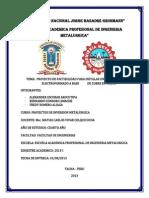 233687817 Proyecto de Factibilidad Para Instalar Una Planta de Electroformado a Base de Cobre en Tacna