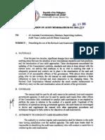 COA Cir. No. 2013-004 Revised Cash Examination Manual