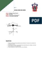 Reporte de Practica 1 - Caracteristicas Del Diodo
