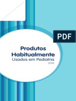 Manual de Produtos Habitualmente Usados Em Pediatria