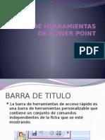 BARRA DE HERRAMIENTAS DE POWER POINT