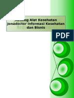 Katalog dan ketersediaan alat kedokteran dan kesehatan jonadoctor