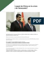 Cuál Es El Papel de China en La Crisis Económica de Venezuela