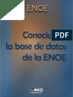 Conociendo la base de datos de la ENOE