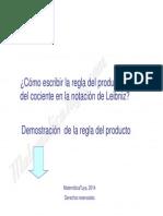 Demostracion de La Regla de Producto