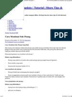Cara Membuat Sale Pisang