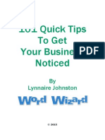 101 Ways to Get Your Business Noticed