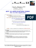 AYF13 Application Form