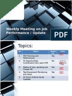 Weekly Meeting on Job Performance