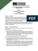 Reglamento de Fondos de Inversión
