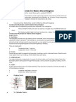 Construction Materials for Marine Diesel Engines