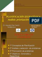 Planificacion Estrategica Probematica,Priorizacion, Objetivos a Diaz Nov14