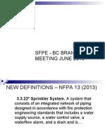 Nfpa 13 Presentation