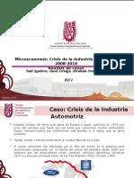 EXPOSICIÓN CRISIS DEL SECTOR AUTOMOTRIZ 2008-2010