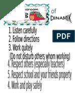 Rules in Class