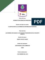 Normas a Los Estados Financieros en Su Conjunto (Serie b)