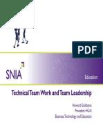 Goldstein-Technical Team Work Team Leadership[1]
