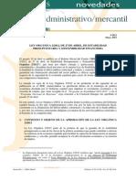 ESTABILIDAD PRESUPUESTARIA Novedades Administrativo Mercantil 5 2012