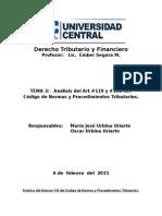 Trabajo Final de Investigación Derecho Tributario y Financiero Art 119 y 102 Mari y Oscar