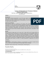 Efficacy of Radiofrequency Turbinatoplasty for Treatment of Inferior