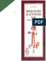 PROGRAMACIÓN DE ACTIVIDADES (Educación Especial) Garrido  Landívar , Jesus.