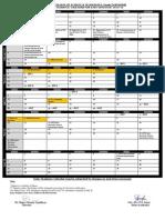 Academic Calendar EVEN SEMESTER (2014-15)