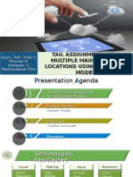 Tail Assignment with Multiple Maintenance Locations Using Network Model