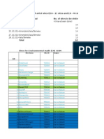 Schedule of Work With Site Names - EA and EIA DSM 2014
