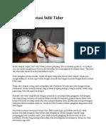 7 Tips Mengatasi Sulit Tidur