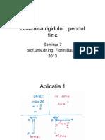 Dinamica Rigidului _pendul Fizic_seminar7