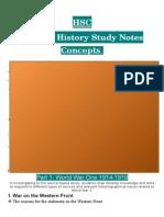 Good WW1 Notes [HSC]