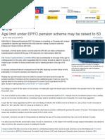 Age Limit Under EPFO Pension