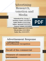 Advertising, Promotion and Media Research