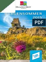 Oberpfälzer Wald Blätterkatalog Burgensommer 2015