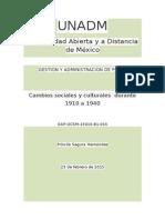 Cambios Sociales y Culturales Durante 1910-1940