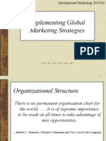 Implementig Global Marketin Strategies