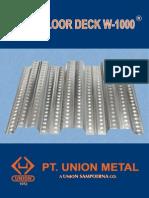 Brosur Floor Deck W-1000 - Union Metal - 2013