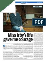 Miss Irby's life gave me courage (Novo Vrijeme)
