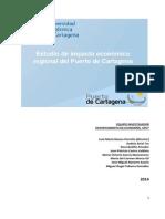 Estudio de Impacto Económico Regional Del Puerto de Cartagena