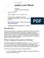 How to Organize Your Thesis