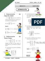 III BIM - 4to. Año - Guía 6 - Determinantes