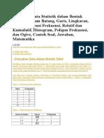 Penyajian Data Statistik Kuantitatif Tabel