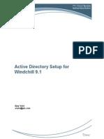 Windchill Active Directory Setup