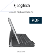 Ultrathin Keyboard Folio m1 Setup Guide