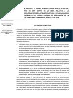Propuesta relativa a la desestimación de la medida cautelar solicitada por el Grupo Popular