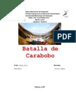 Trabajo Batalla de Carabobo Yajaira