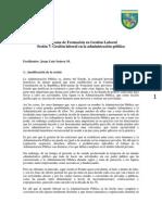 Programa Gestión Laboral en la Administración Pública