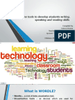 Online tools to develop students writing, speaking and reading skills
