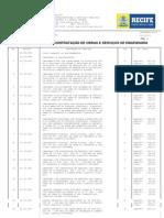 EMLURB - Tabela de Preços para Contratação de Obras e Serviços de Engenharia